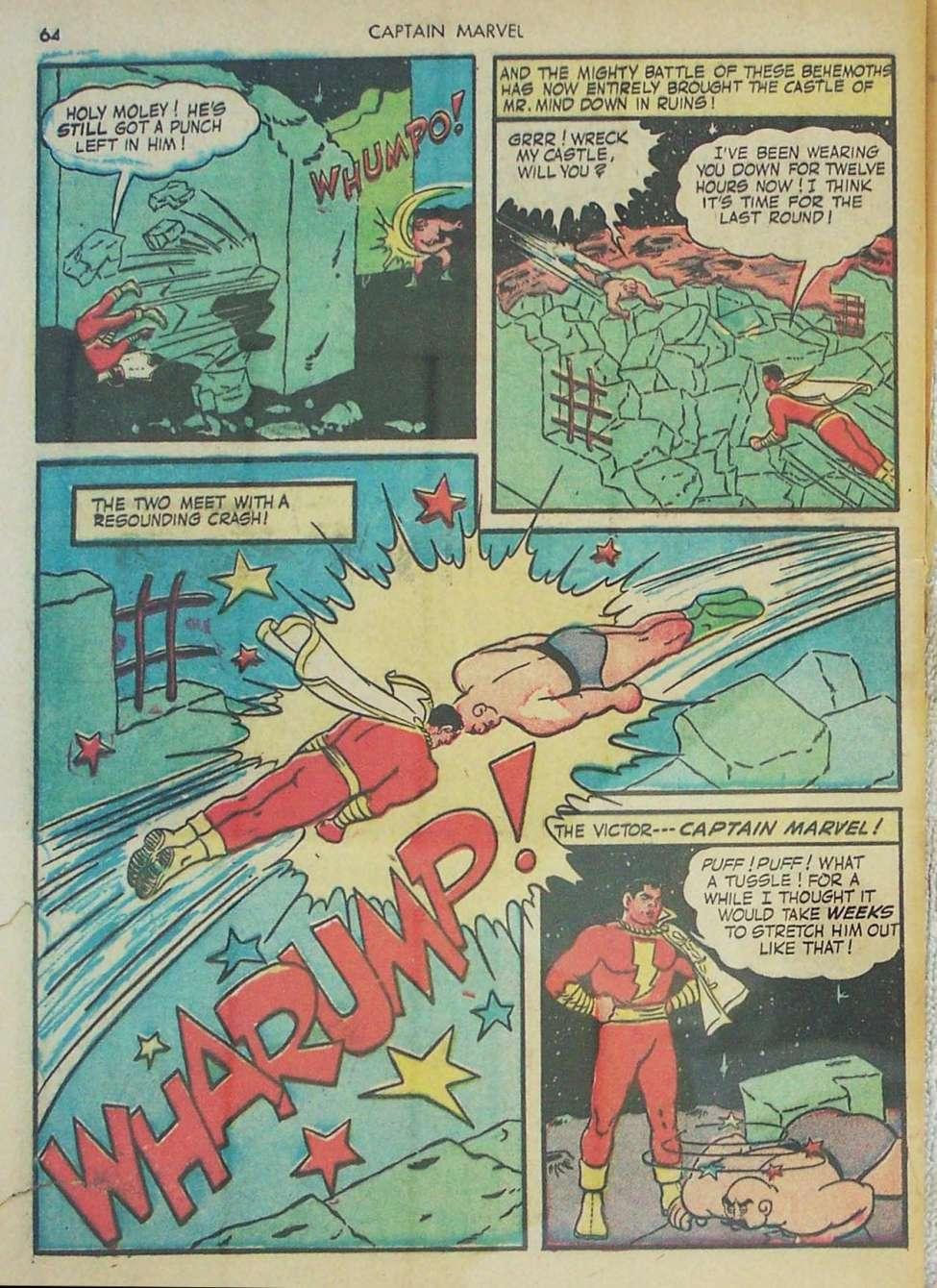 Comic Book Cover For Captain Marvel Adventures #26