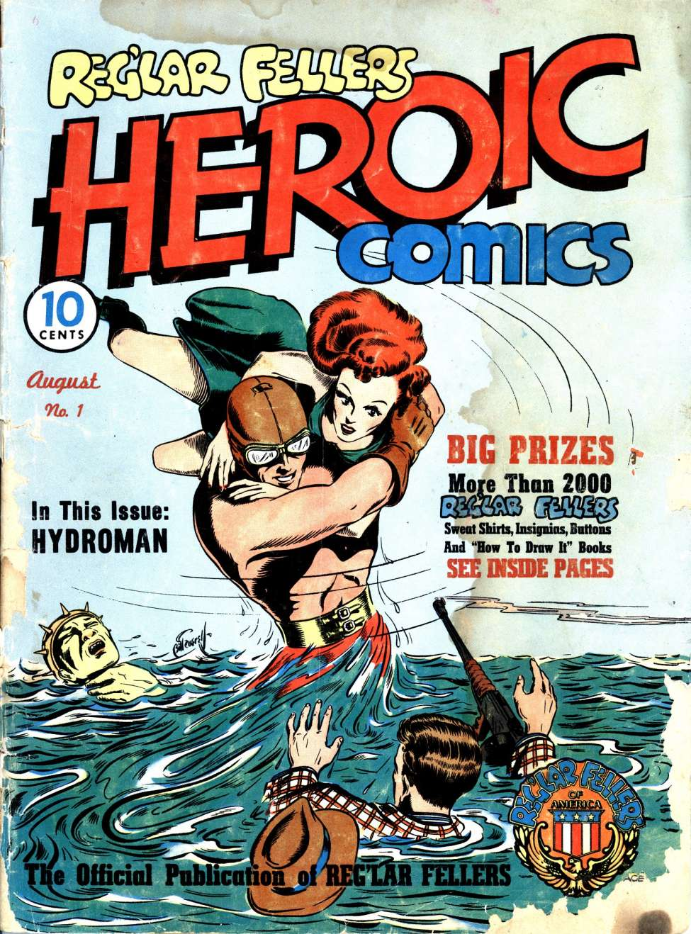 Comic Book Cover For Reg'lar Fellers Heroic Comics #1