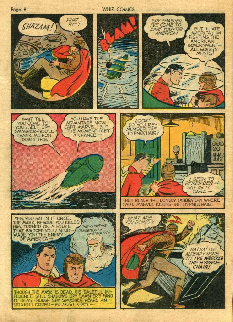 Comic Book Cover For Whiz Comics #18