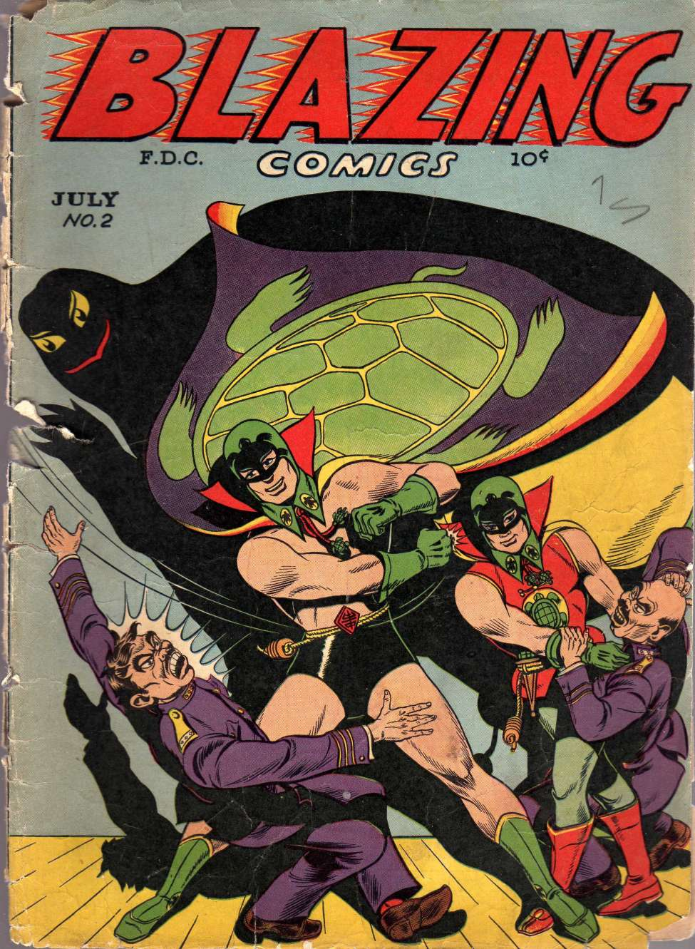 Comic Book Cover For Blazing Comics #2