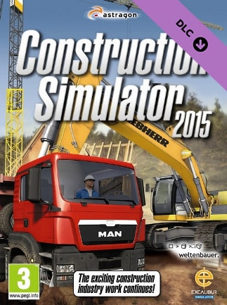Construction Simulator 3 Pc : construction, simulator, Construction, Simulator, 2015:, Liebherr, Steam, GLOBAL, G2A.COM