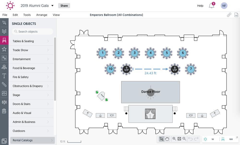 medium resolution of social tables demo diagramming software