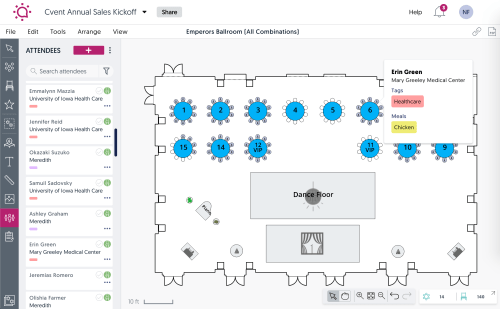 small resolution of social tables demo seating and attendee management