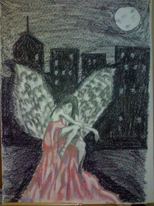 angel caido  MIRIAN GALAN MARQUES  pintura moderna  wwwgaleriasartecom