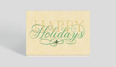 warm words holiday card