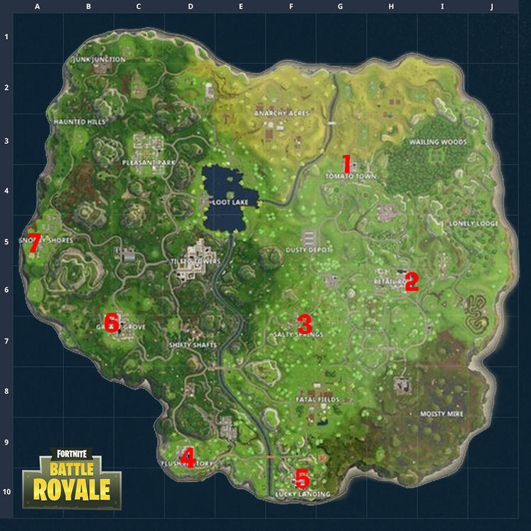 Fortnite Week 7 Challenges All Hidden Gnome Locations GameWatcher