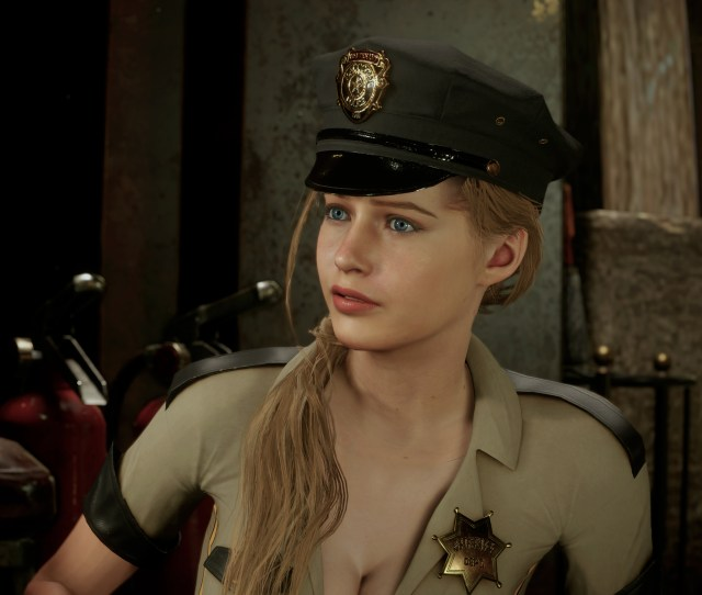 Claire Sexy Sheriff Outfit Mod Resident Evil  Remake Gamewatcher