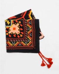 A Peace Treaty Arash Silk Scarf in Black | Garmentory