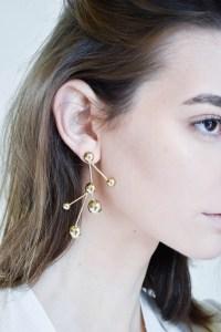 Pamela Love Hydra Earrings in Brass | Garmentory