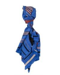 A Peace Treaty Tala 100% Silk Scarf in Blue | Garmentory