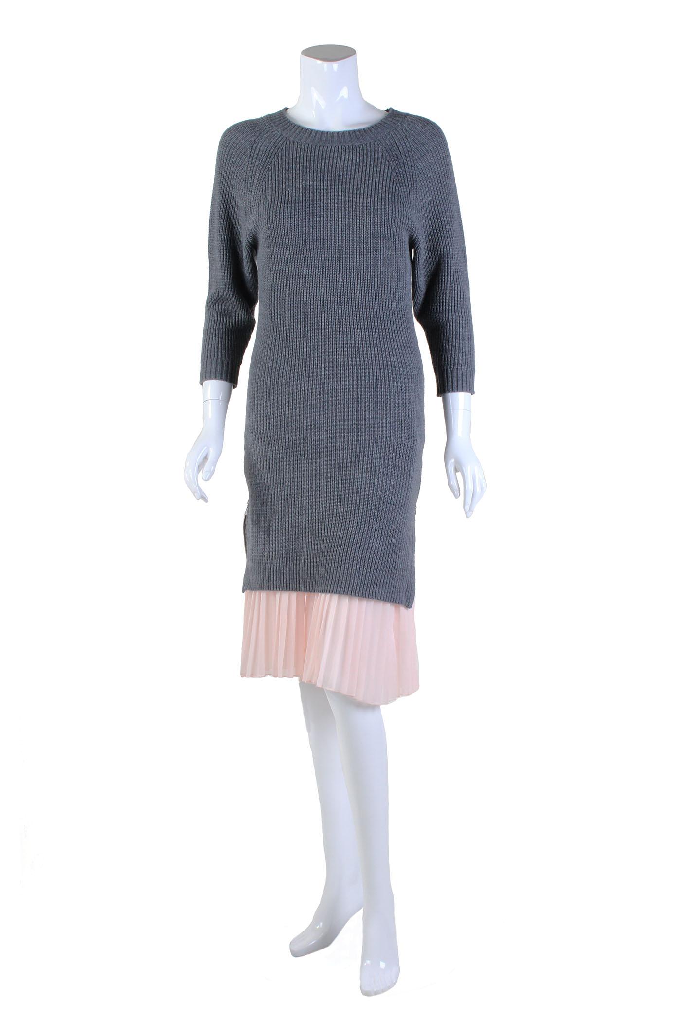 Cosette Cecilia Sweater Dress Light Grey Garmentory