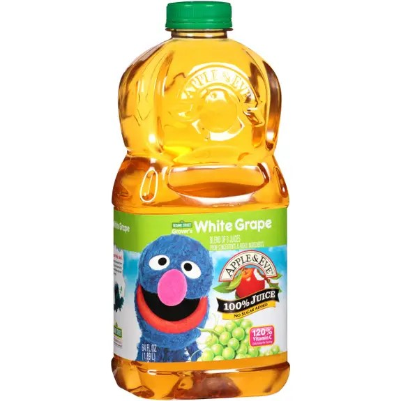 Apple And Eve Sesame Street 100 Percent Juice Grover39s