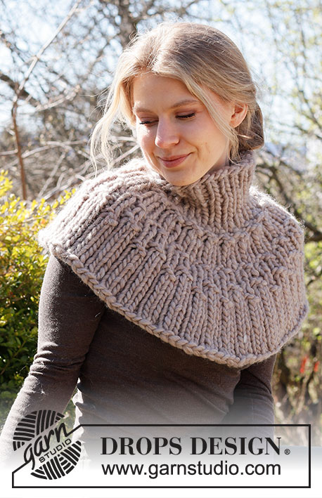Knitted Neck Warmer : knitted, warmer, Silent, Woodland, Warmer, DROPS, 214-21, Knitting, Patterns, Design
