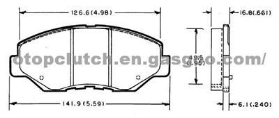 Brake Pad for Honda/ Odyssey 115430280, OEM Number