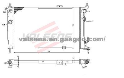 Radiator for OPEL, VAUXHALL Astra F(91-) OE :1300116