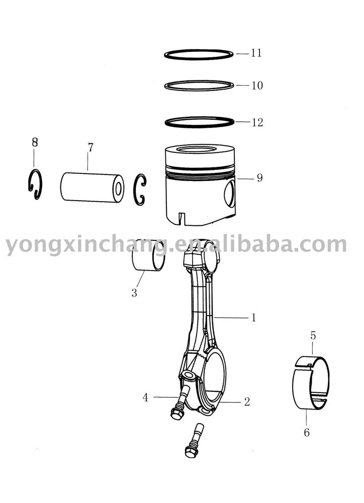 Connecting Road, Cylinder, Piston, Engine Parts