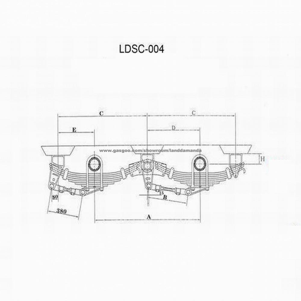 medium resolution of 16t underslung casting trailer truck suspension