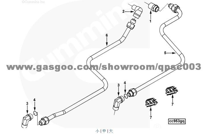 204994 Connector, Male CUMMINS QSC8.3, OEMNO:204994