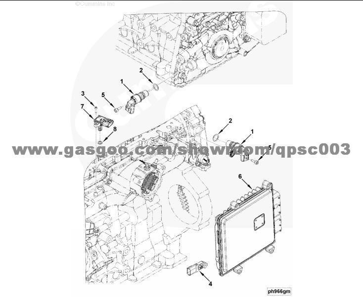 2872277 Sensor, Position CUMMINS ISF3.8, OEMNO:2872277