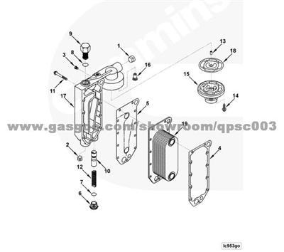 3918174 Gasket, Oil Cooler Core CUMMINS 6CT8.3 3918174
