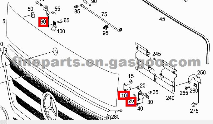 A 9737500084, A9737500184, FASTENER FOR BENZ TRUCK, OEM