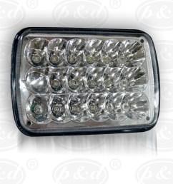 factory direct sale ip 68 truck lite 5x7 led headlights 5x7 headlight upgrades for jeep wrangler yj cherokee xj [ 1000 x 1000 Pixel ]