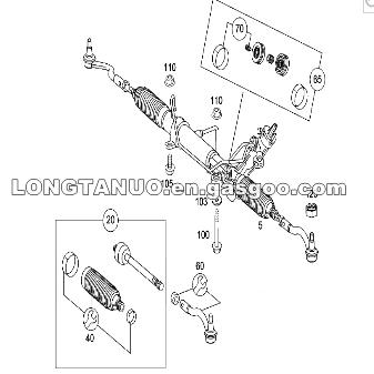 Power Steering Rack A6394602500 For Mercedes Benz Vito