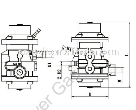 CNG pressure reducer regulator,China Auto Parts,buy CNG