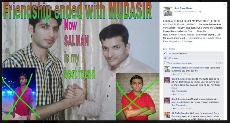 facebook user asif ends