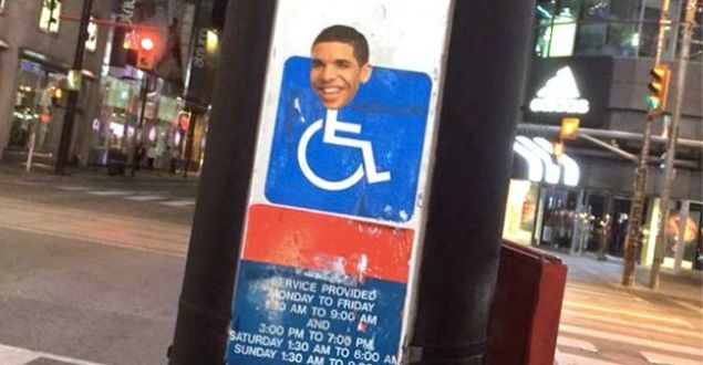 wheelchair drake best recliner chair australia s head is appearing on signs all over toronto in the hilariously prophetic words of circa 2007 damn who where jimmy at