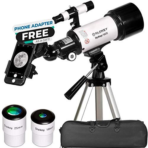 Télescope Astronomique - Portable et Puissant 16x-120x - Facile à Monter et Utiliser - Idéal pour Les Enfants et Les Adultes Débutants - Télescope pour Observer la Lune et Les Planètes Voisines