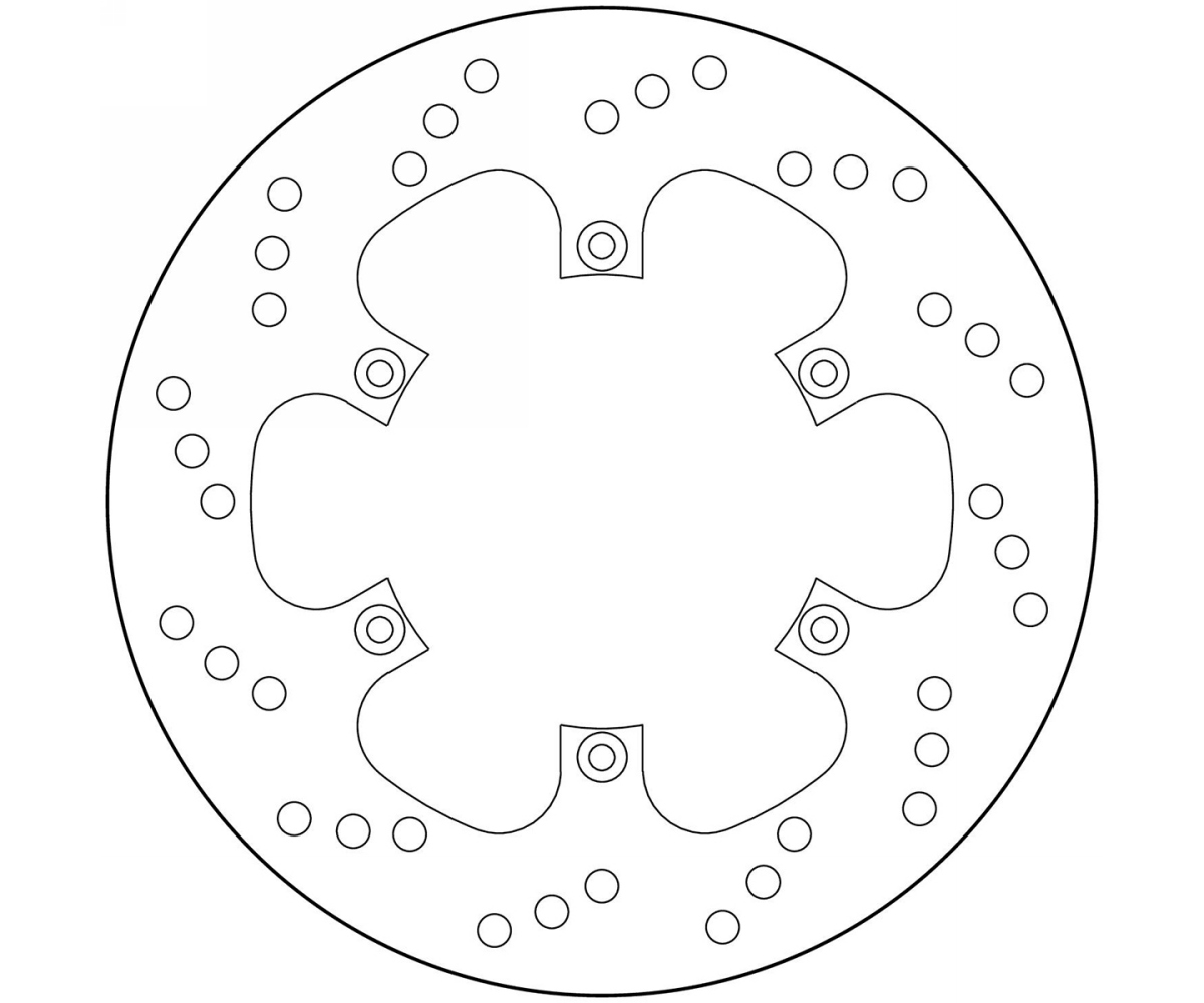 Brake Disc Fixed Brembo Serie Oro Rear for Bmw F 650 St
