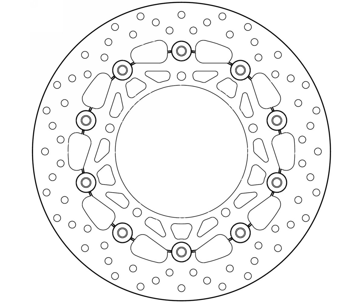 Brake Disc Floating Brembo Oro Front for Yamaha Yzf R6 600