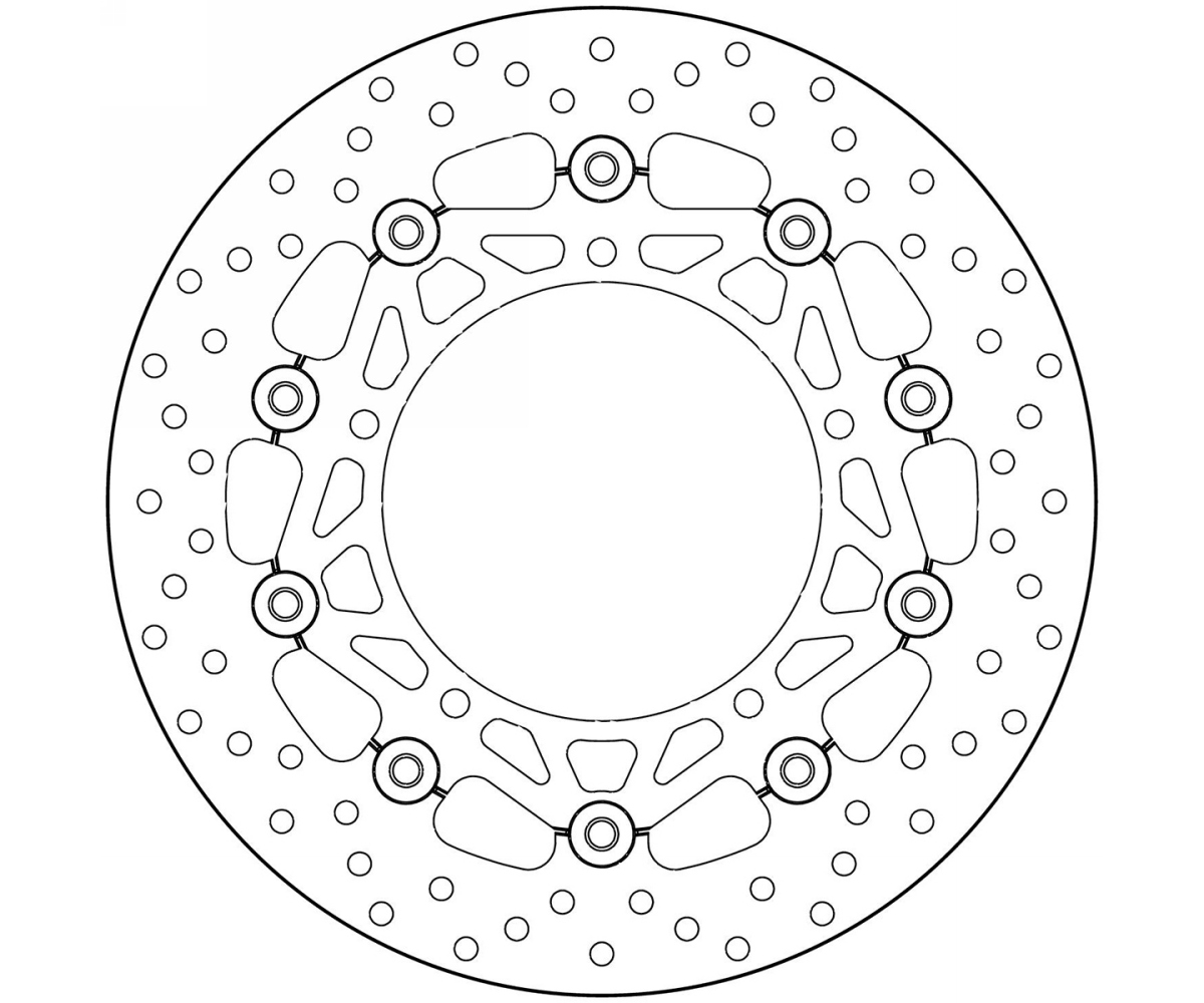 Brake Disc Floating Brembo Oro Front Yamaha Mt 09 Abs 850
