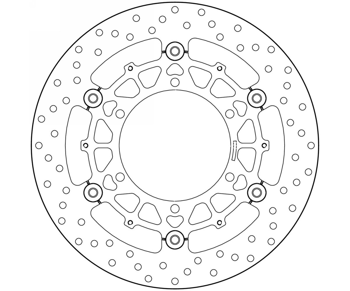 Brake Disc Floating Brembo Oro Front For Bmw R Rs