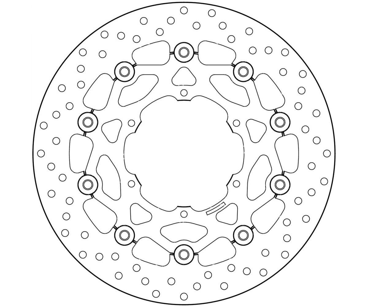 Brake Disc Floating Brembo Serie Oro Front Bmw F 650 Cs