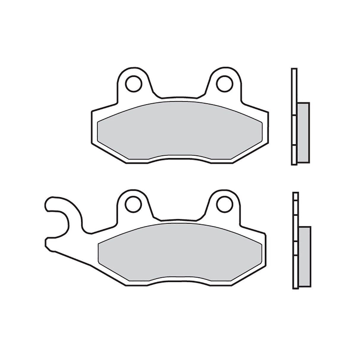 Front Brembo Sd Brake Pads For Yamaha Yxr Rhino Right Rear