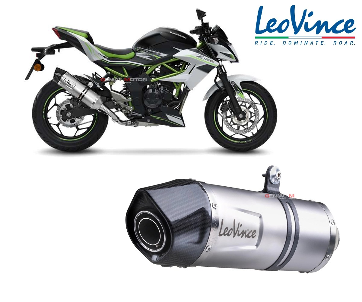 exhaust leovince lv one evo inox approved kawasaki z 125 2019 2021 14293e