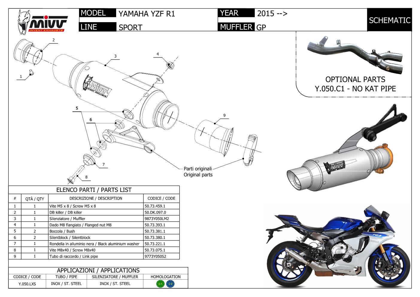 Yamaha R1 Exhaust