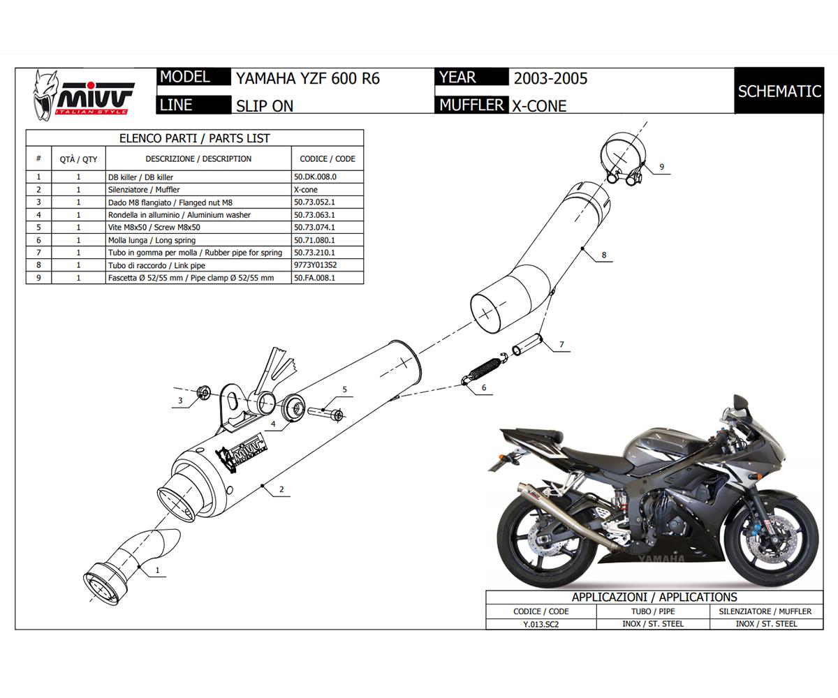 Y.013.SC2 Exhaust Muffler Mivv X-cone Stainless Steel