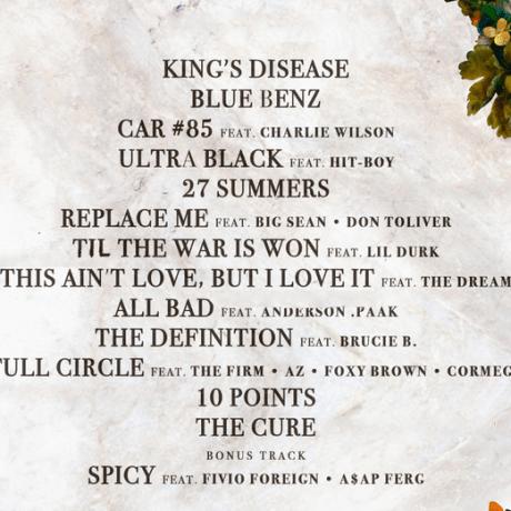 Nas - King's Disease Lyrics and Tracklist | Genius