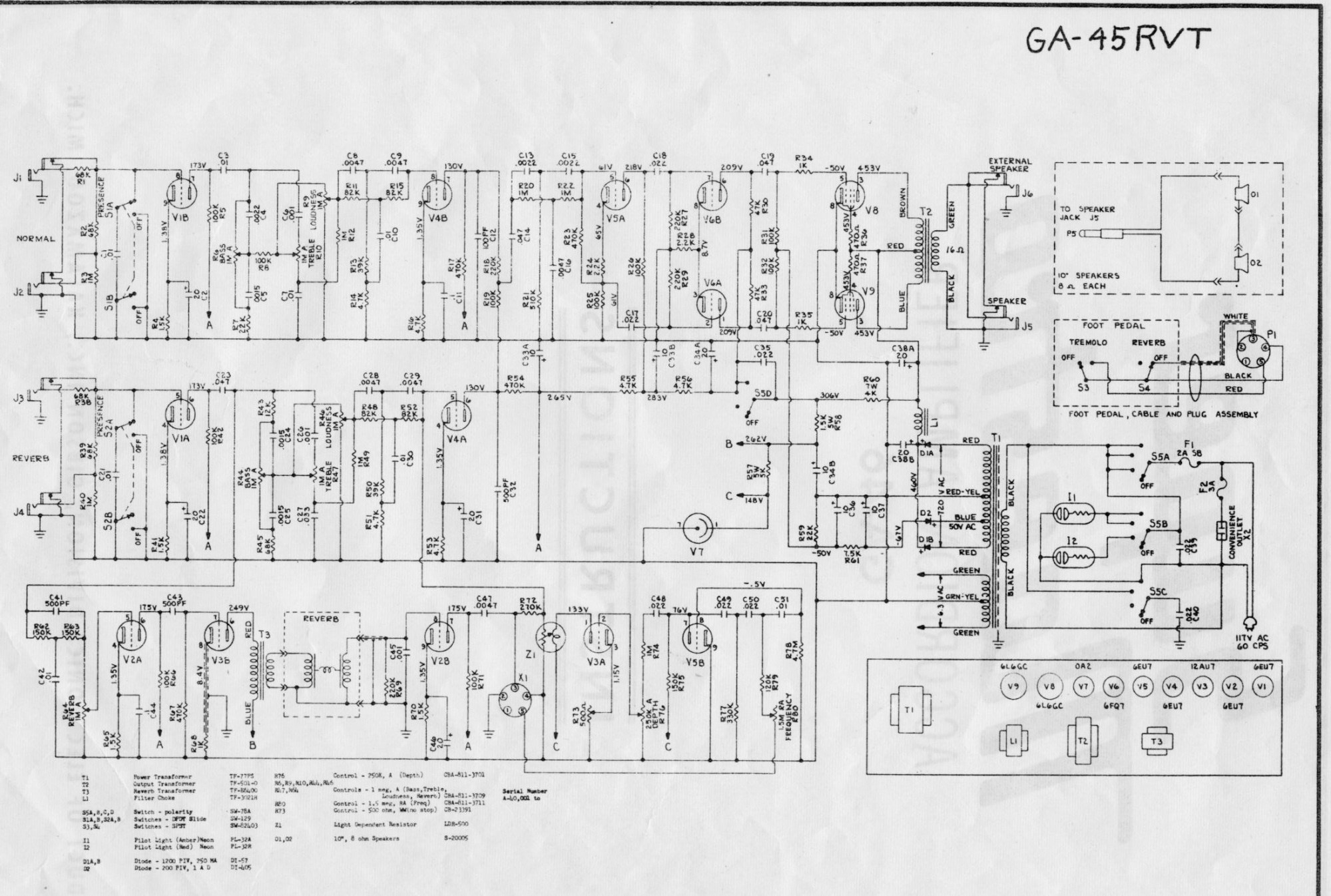 hight resolution of gibson ga 100 bass amp