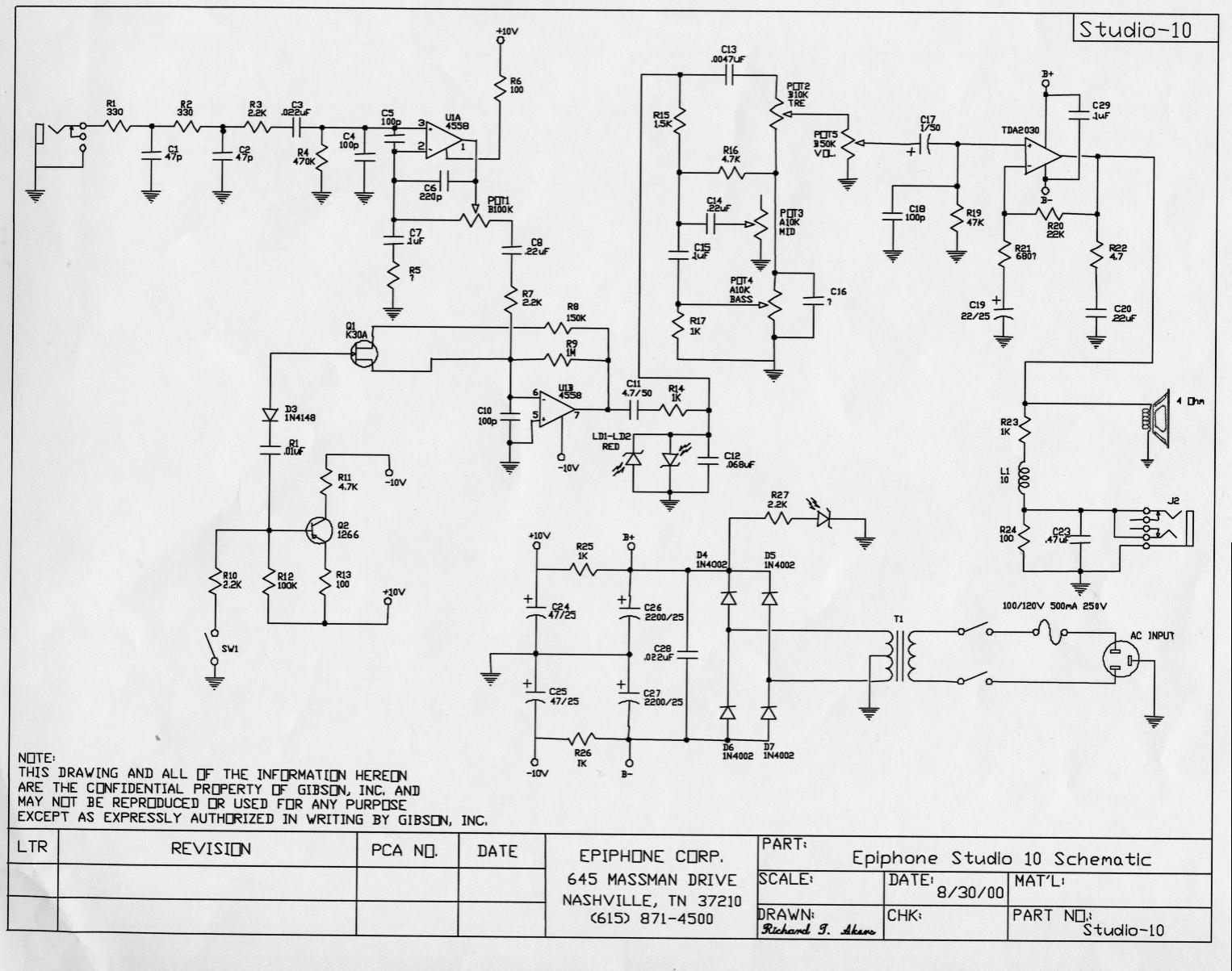 gibson futura wiring schematic