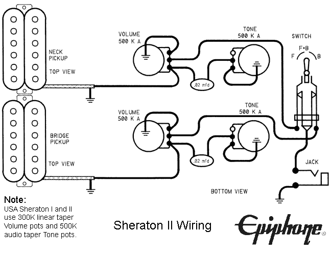 wiring diagram for epiphone dot studio