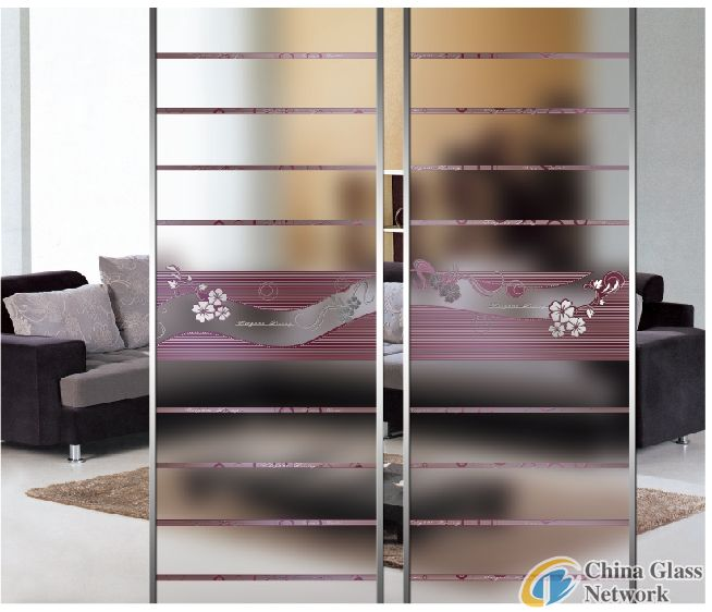 Sliding Door Glass Home Decorative Glass Partition Glass