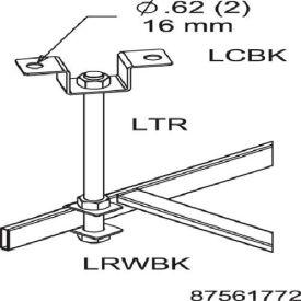 Hoffman LTR Threaded Rod, 5/8inx6ft, Steel/Zinc