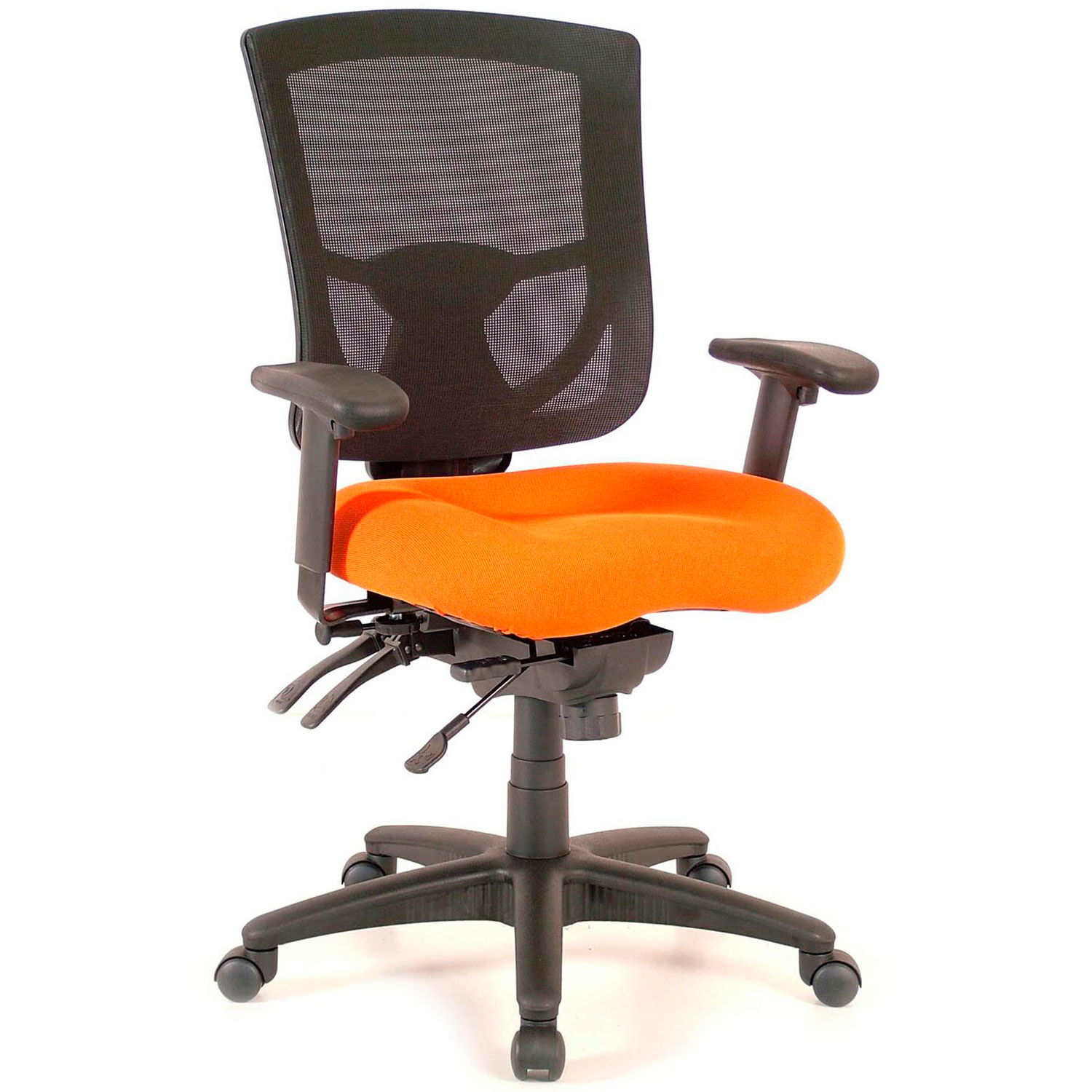 Orange Office Chairs Chairs Mesh Storlie Executive Mesh Office Chair Orange