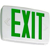 Emergency Lighting & Exit Signs | Exit Signs | Lithonia LQM S W 3 R 120/277 EL N M6 Quantum Univeral Mount LED Red Exit W/3 Face Panels & Battery ...