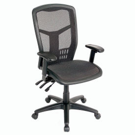 office chair mesh mat walmart chairs task seat high back black 248622 globalindustrial com