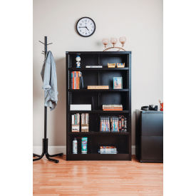 allsteel access chair instructions gym chest bookcases displays all steel bookcase 36 quot w x 12 d 60 h black 5 openings 277441bk globalindustrial com